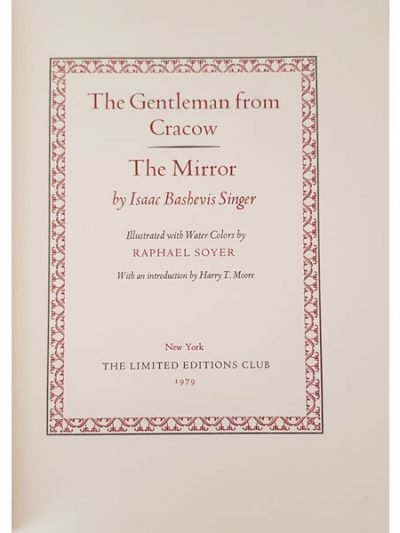 The Gentleman from Cracow: The Mirror By Isaac Bashevis Singer